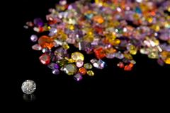 Diamond And Scattered Gem Trail Stock Photos