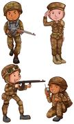 Brave soldiers Stock Illustration