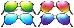 Neon-coloured sunglasses Stock Illustration
