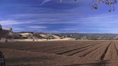 Farming  Capay Valley, Fertile soil Stock Footage
