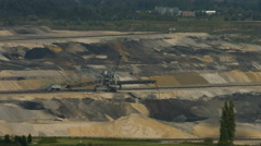 Tagebau Aldenhoven: stacker in a lignite mine - stock footage