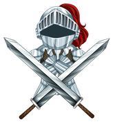 Knight armour Stock Illustration