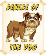 Beware of dog Stock Illustration