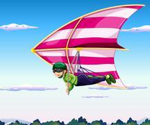Hang-glider Stock Illustration