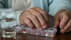 Senior Prescription Medication Stock Footage
