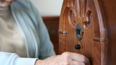 Old Time Radio Stock Footage
