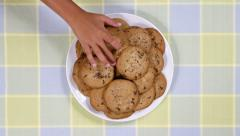 Children Eating Cookies Stock Footage