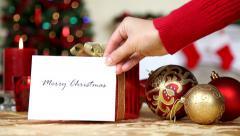 Christmas Gift - stock footage