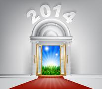 New Year New Dawn Door 2014 - stock illustration