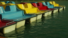 Paddleboats paddle boats Stock Footage