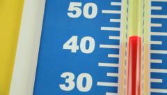 Summer Temperature Falling - Celsius - stock footage