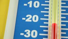 Winter Temperature Rising - Celsius - stock footage