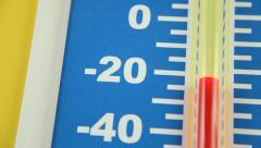 Winter Temperature Rising - Farenheit Stock Footage