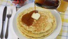 Pancake Breakfast Stock Footage