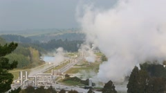 Wairakei geothermal power station Stock Footage