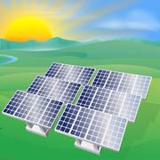 Solar power energy illustration Piirros