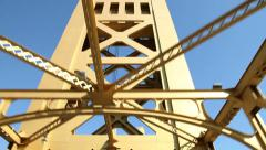Sacramento Tower Bridge Stock Footage