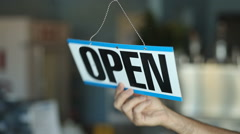 Open For Business Stock Footage
