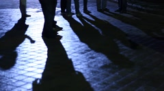 People shadows on the ground Stock Footage