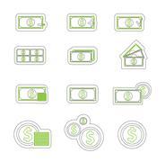Stock Illustration of Money icon duoton