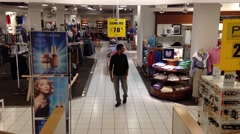 Stock Video Footage of one side of sears store