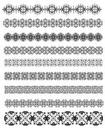 Stock Illustration of collection of ornamental rule lines in different design styles