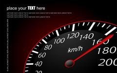 Speedometer. accelerating dashboard. vector illustrator Stock Illustration