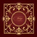 Stock Illustration of gold ornament on brown background. can be used as invitation card or cover. v