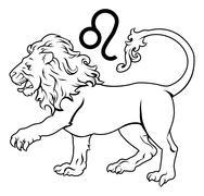 Leo zodiac horoscope astrology sign Stock Illustration
