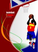 basketball players. vector illustration - stock illustration