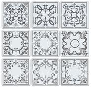 Stock Illustration of decorative finishing ceramic tiles. vector illustration