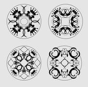 decorative finishing ceramic tiles - stock illustration