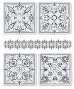 Decorative finishing ceramic tiles. vector illustration Stock Illustration