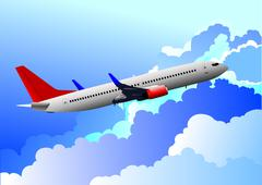 Aairplane in air. vector illustration Stock Illustration