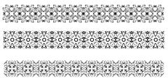 collection of ornamental rule lines in different design styles - stock illustration