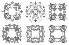 decorative finishing ceramic tiles. vector illustration - stock illustration