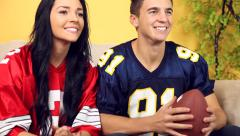 Football Fans - stock footage