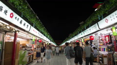 Time-lapse view of Nakamise-dori shopping street at Senso-ji temple, Tokyo, Stock Footage