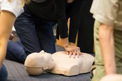 First aid CPR seminar. - stock photo