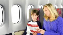 Airplane Safety Stock Footage