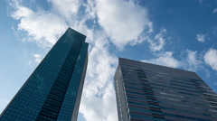 Time-lapse view of buildings in Shiodome business district, Tokyo, Japan Stock Footage
