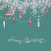 Christmas scrapbook card Stock Illustration