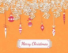 christmas scrapbook card - stock illustration