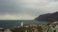 Los Gigantes village resort view, Tenerife, Canary islands. Stock Footage