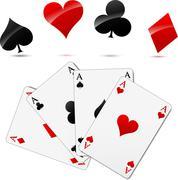 casino cards - stock illustration
