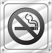no smoking sign - stock illustration
