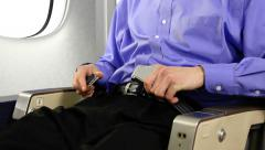 Airplane Seatbelt Stock Footage