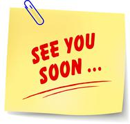 See you soon note Stock Illustration