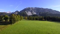 Dachstein massif in ramsau, styria, austria Stock Footage