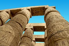 ancient ruins of karnak - stock photo
